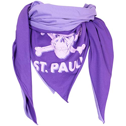 FC St. Pauli Halstuch Schal Bandana Tuch Totenkopf Aufdruck Kollektion 2020 Leila Unisex Damen Herren zweifarbig hell dunkel Flieder lila violett