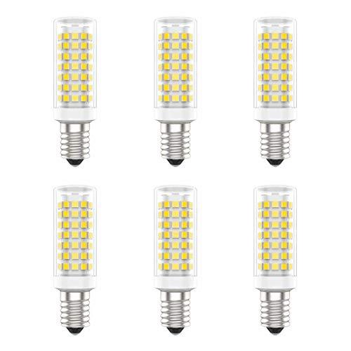 Asdfax E14 LED Lampen, Kein Flimmern, 9W Nicht Dimmbar, 90W Glühlampenäquivalent, 3000K Warmweiß, Packung mit 6 Stück (Warmweiß, 9W)