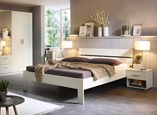Rauch Möbel Ryba Bett Futonbett in Weiß, Liegefläche 180x200 cm, Gesamtmaße BxHxT 185x88x215 cm