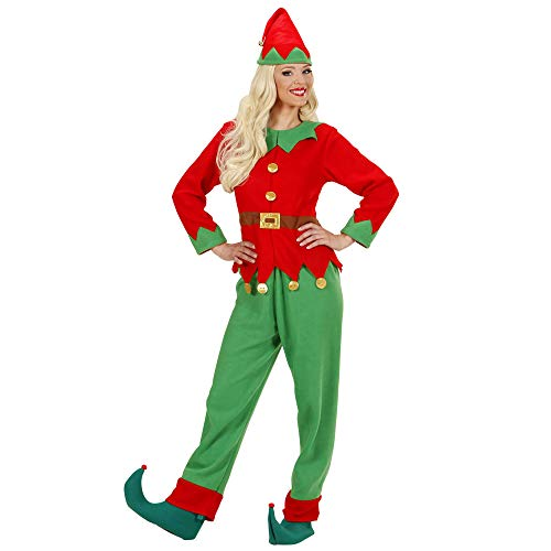 Ladies Santas Little Helper Elf Woman Costume Medium UK 10-12 for Christmas Panto Nativity Fancy Dress