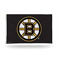 NHL Rico Industries 3-Foot by 5-Foot Single Sided Banner Flag with Grommets, Boston Bruins