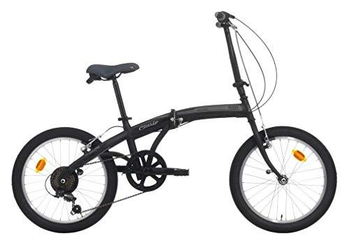 CINZIA Bici Bicicletta Fold Trolley Pieghevole 24'' 6V Nero - Grigio