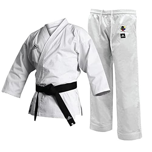 adidas - Uniforme da Karate WKF Club da Uomo, 226,8 g, per Studenti di Arti Marziali, Uomo, Bianco, 180 cm