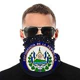 El Salvador Escudo de Armas Anime Hombres al aire libre Multi Función Variedad Bufanda Cabeza Máscara Cara Resistente al viento