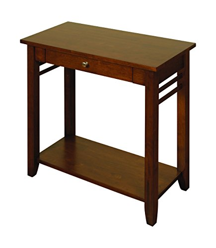 Hawaii Solid Hardwood Dark Console Table Large - Dark Hall Table with 1 Drawer and Storage undershelf - Finish : Dark Oak - Hallway Furniture - Bedroom, Dining Room - Living Room - Porch Furniture