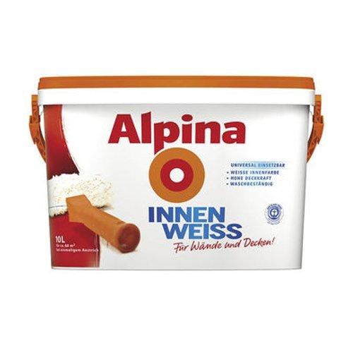 Alpina INNENWEISS Wand deckenfarbe farbe weiß matt,5 Liter