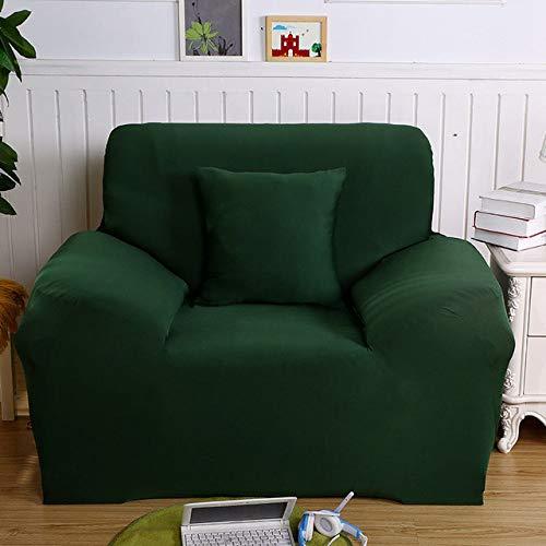 ZWL Sofaovertrek, elastisch, overtrek van katoen, fijn, voor sofa, hoekbank, woonkamer 1-seat 90-140cm Kleur 14