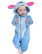 La Vogue spädbarn spädbarn mjuk plysch tecknad pyjamas söt djur onesie overall cosplay maskeradkostymer sparkdräkt pyjamas