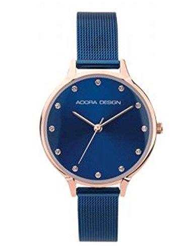 Adora Design Damenuhr mit Milanaisearmband Blau 32 MM AD8060