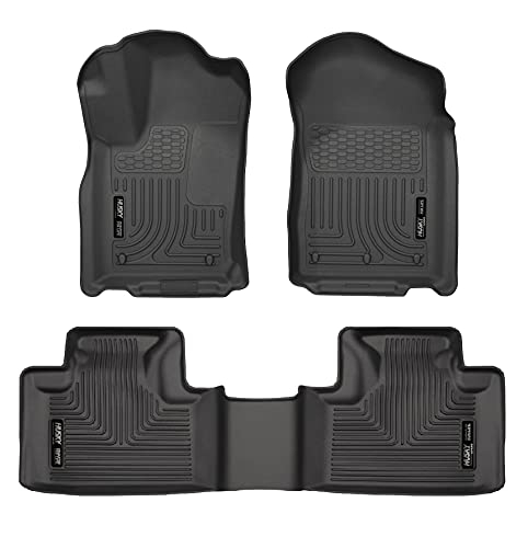 Husky Liners 99051 Black Weatherbeater Front & 2nd Seat Floor Liners...