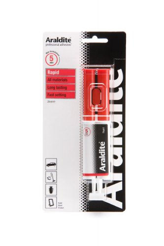 Araldite Rapid Kleber, Rot, selbstklebend, sehr stabil, 24 ml Spritze