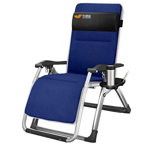 Ligstoel Kussen Patio Buiten Tuinmeubelen Dik gewatteerd bed Recliner Relaxer Chair Topper, blauw