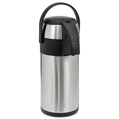 Best Choice Products 5L Stainless Steel Thermal Airpot Dispenser for Hot and Cold Beverages w/Safety Lock - Silver