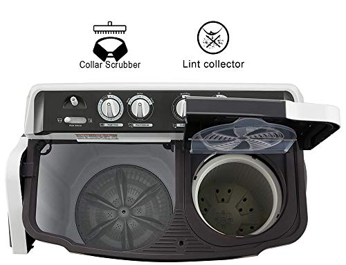 LG 7 Kg 4 Star Semi-Automatic Top Loading Washing Machine (P7020NGAY, Dark Gray, Collar scrubber) 4