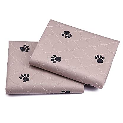 """SincoPet Reusable Pee Pad + Free Puppy Grooming Gloves/Quilted, Fast Absorbing Machine Washable Dog Whelping Pad/Waterproof Puppy Training Pad 2Pack(31""""X36"""")/Housebreaking Absorption Pads 4"""