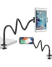 Nulaxy スマホスタンド タブレット スタンド iPad スタンド 進化版 フレキシブルアーム 360度回転可能 寝ながらタブレットスタンド 滑り止め 卓上 ベッド ipad/iPhone/Androidホルダー 角度調整可能
