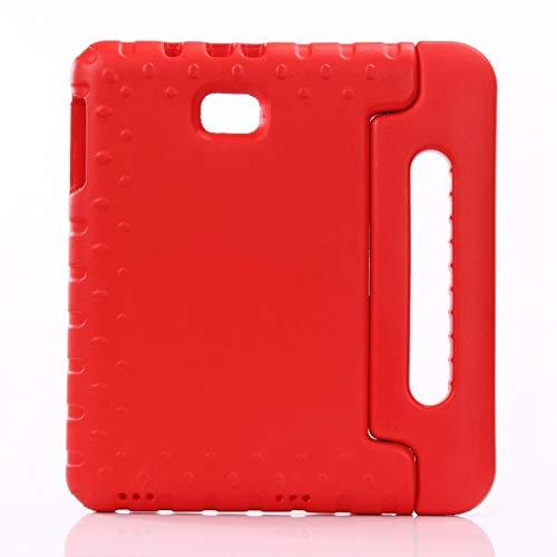 RZL Pad y Tab Fundas para Samsung Galaxy Tab A 10.1 '' T580 T585, Prueba de Choque EVA Tapa de Silicona Segura para niños para Samsung Galaxy Tab A 10.1 Inch SM-T580 / 585 2016 (Color : Rose Red)