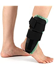 Mainstayae Air Gel Ankle Stirrup Brace Adjustable Ankle Splint Stabilizer Support for Sprains and Arthritis Pain Relief