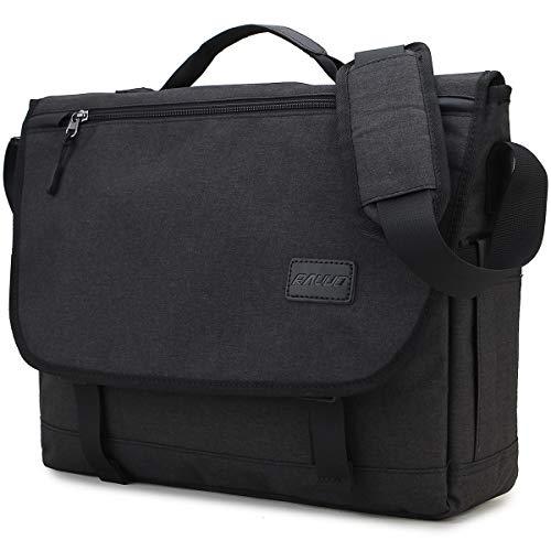 Ravuo Messenger Bag für Herren, wasserabweisend, leicht, 15,6 Zoll Laptop-Aktentaschen, Business-Schulter-Büchertasche