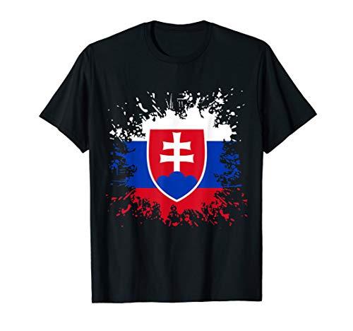 Slowakei Flagge Slowakische Fahne Fußball T-Shirt Fan Shirt T-Shirt