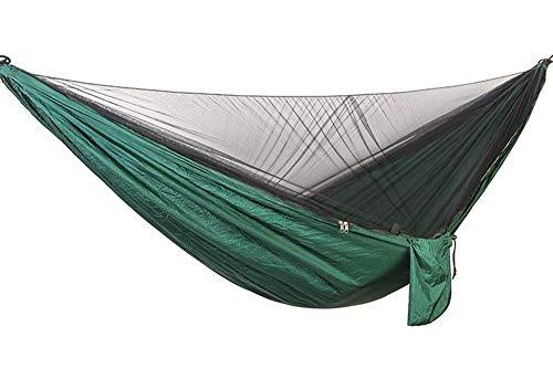SSB Swing Hamac De Jardin Anti-Moustique en Plein Air Double Double Parachute Tissu Charge 300Kg Dortoir Intérieur Camping Net Randonnée Sac À Dos Voyage 290x140cm (Color : C)