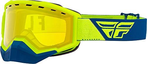 Fly Racing Focus Snow Goggles (Hi-Vis/Blue W/Yellow Lens)