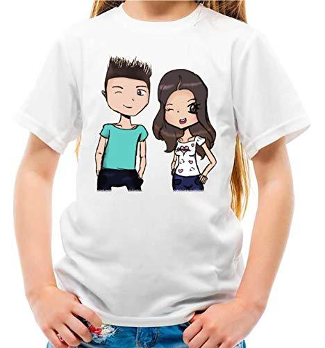 Maglietta Youtuber Lui e Sofi Slime Lab Bambina e Bambino v4 (7-8 Anni)