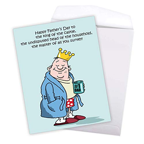 NobleWorks - Jumbo Fathers Day Card Funny (8.5 x 11 Inch) - Hilarious Greeting Notecard for Dads, Grandpa - King Of The Castle J0239 Photo #7