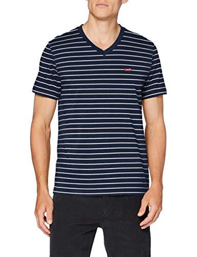 Levi's Orig Hm Vneck Camiseta, Two Color Dress Blues, L para Hombre