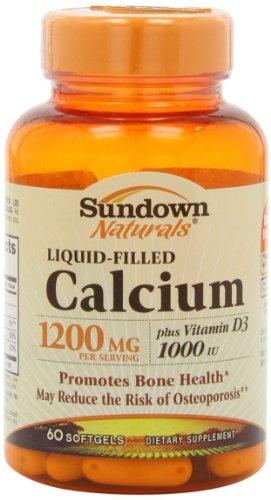 Sundown Naturals Liquid-Filled Calcium Plus Vitamin D3-60 Softgels