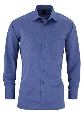 OLYMP Luxor Herren Hemd / Modern Fit / Langarm, 69 nachtblau, Gr. 42