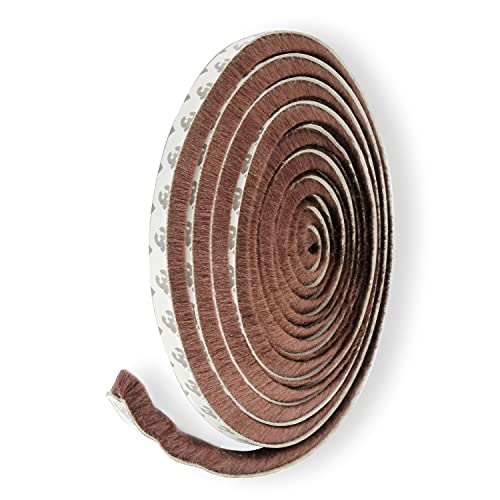 隙間テープ モヘア ドア 窓 すきまテープ (9mm×5m) 隙間風防止 扉 ゴムパッキン モヘアテープ 隙間ガード 【L.BLUEM】