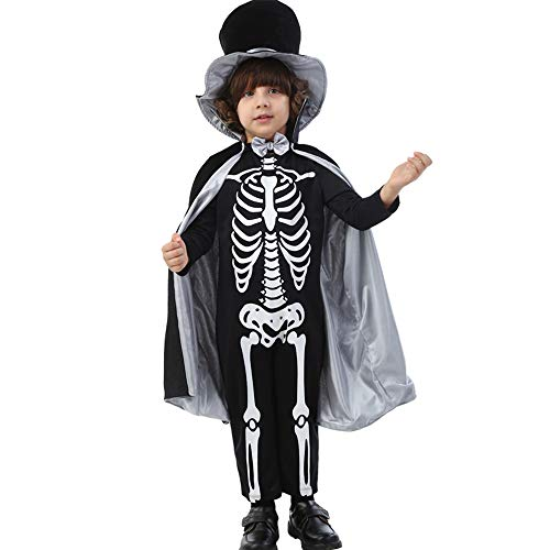 XBSD Party kostuums, Baby Jongens Meisjes Schedel Skeleton Kostuum Romper Dress Up, Role Play en Cosplay, Inclusief masker, hoed, mantel, handschoenen.