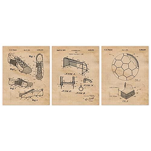 Vintage Soccer Patent Poster Prints
