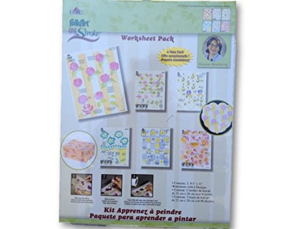 4219 Floral Prints Impressions One Stroke Reusable Painting Teaching Guide Worksheet Pack