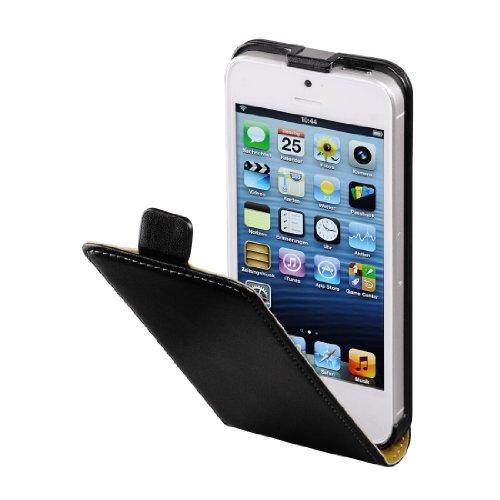 Hama Flip Case für Apple iPhone 5/5s/SE Tasche (Maßgefertigte Schutzhülle mit Magnetverschluss) schwarz