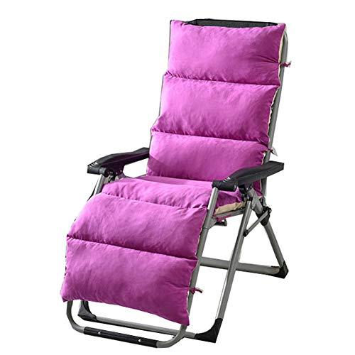 ZHHL - Cojín plegable de mimbre para silla de jardín y terraza, Morado, 155*50*12