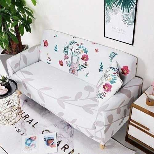 PPOS Funda de sofá elástica Funda de sofá Todo Incluido Funda de sofá elástica Sala de Estar Sofá Toalla Sofá Silla Cojín para sofá D8 4 Asientos 235-300cm-1pc