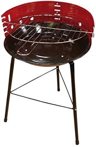marion10020 Rundgrill Holzkohlegrill Grill BBQ Partygrill, mit vierfacher Höhenverstellung, rund, Grillfläche ca. 32 cm
