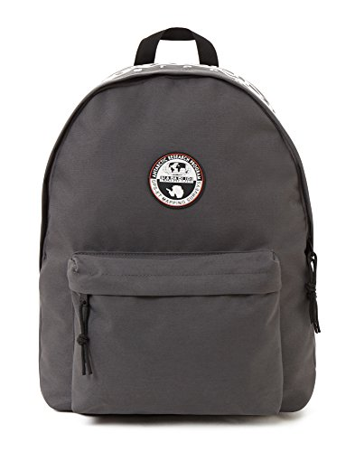 Napapijri HAPPY DAY PACK Mochila tipo casual, 42 cm, 20 liters, Gris (Dark Grey Solid)
