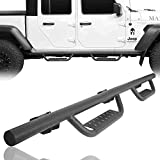 RODEO TRAIL Gladiator Side Steps Nerf Bar Rails Steel Running Boards for Jeep Gladiator JT 2020 2021 Sport | Sport S | Overland | Mojave | North Edition | Rubicon | Rubicon Launch