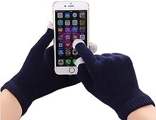 I-Sonite (Navy Blue) Universal Unisex One Size Winter Touchscreen Gloves for LG K10 Power
