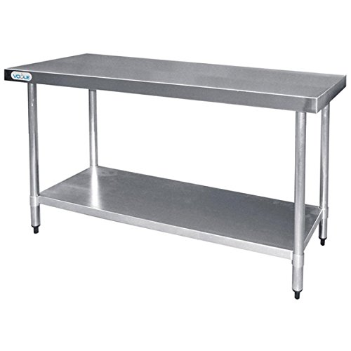 Vogue Table de préparation en acier inoxydable Pour cuisine professionnelle 1200mm