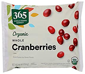 365 by Whole Foods Market, Organic Frozen Fruit, Cranberries - Whole, 10 Ounce