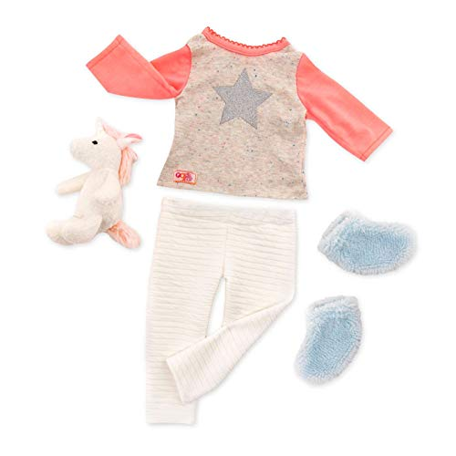 Our Generation BD30311Z Unicorn Wishes Pjs Outfit for 18' Dolls, Nylon/A