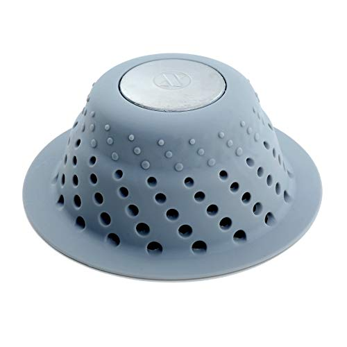 SlipX Solutions Gray Dome Drain Protector Fits Over Drains to