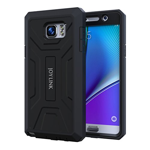 Joylink Note 5 Case with Built-in Screen Protector, Black