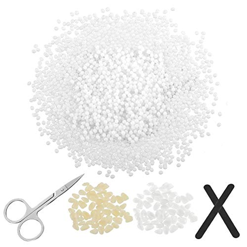 Temporary Tooth Repair Kit, 3.53oz Tooth Filling Thermal Beads, Temporary Veneer Tooth Replacements with Files and Scissors for Filling Fixing the Missing and Broken Tooth