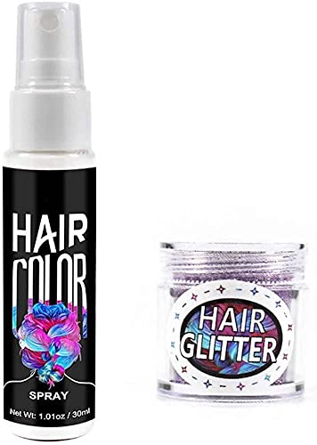 Aerosol instantáneo para teñir el cabello,Aerosol desechable temporal para teñir el cabello con polvo flash,Aerosol para teñir el cabello natural,Tinte para el cabello hidratante lavable (Blanco)