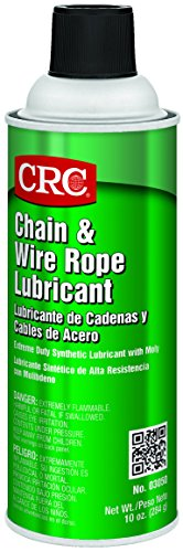 CRC-3050 Chain and Wire Rope Lubricating Spray, (Net Weight: 10 oz) 16oz Aerosol,Clear/Light Amber